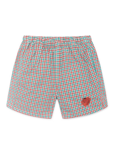 Bobo Choses - Vichy Shorts, Blanc de (119064)
