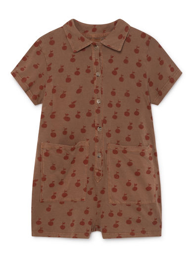 Bobo Choses - Apples Pockets Playsuit, Clove (119078)