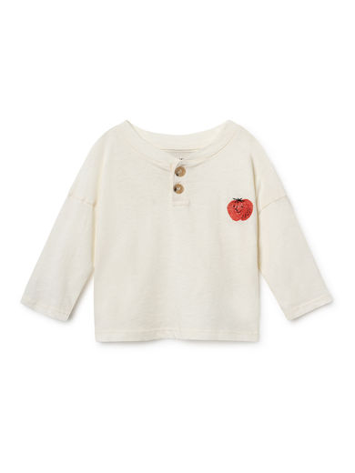 Bobo Choses - Strawberry Buttons T-Shirt, Blanc de (119162)