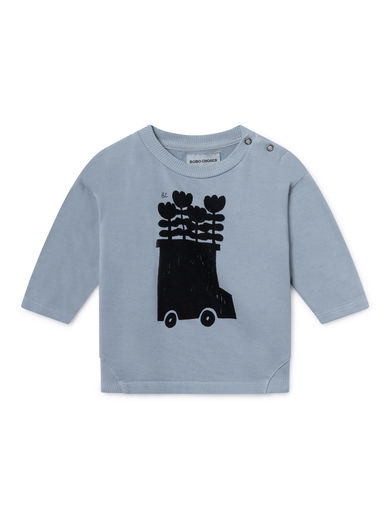 Bobo Choses - Flowers Bus Round Neck Sweatshirt, Ashley (119178)