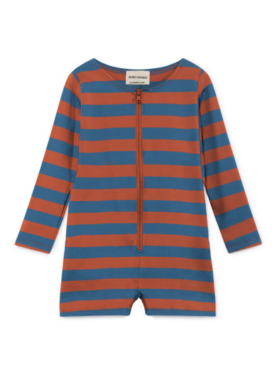 Bobo Choses - Stripes Swim Overall, Seaport (119304)