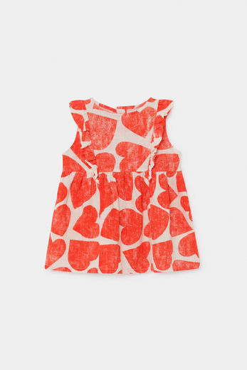 Bobo Choses - All Over Hearts Ruffle Dress 12000089