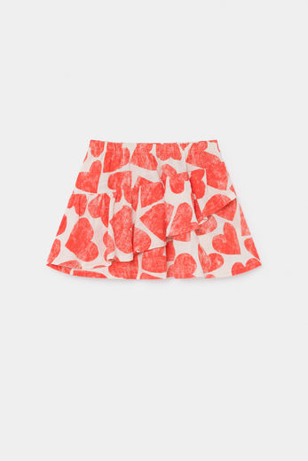 Bobo Choses - All Over Hearts Ruffles Skirt 12001132