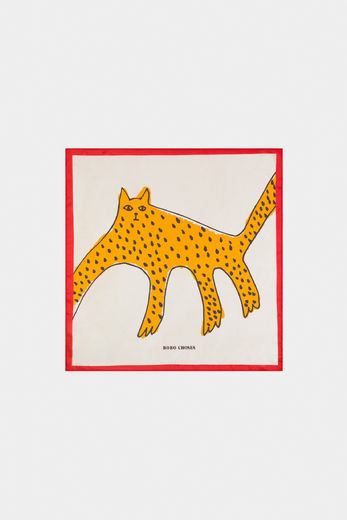 Bobo Choses -  Leopard Square Scarf 12011034