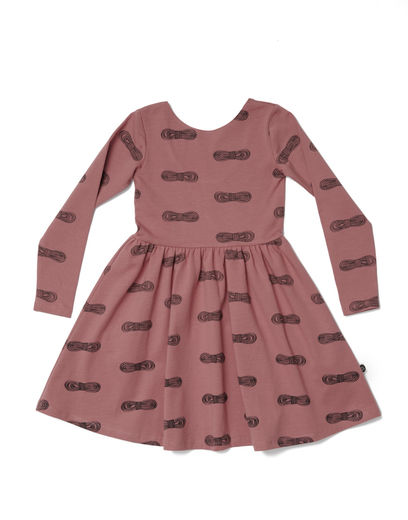 Mainio - Bow Skater Dress, Brick dust