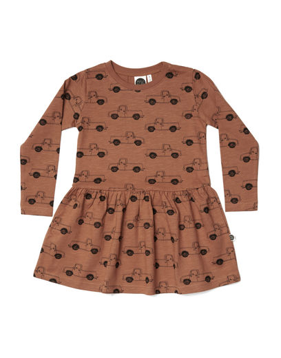 Mainio - Pick-Up Truck Dress, Pecan brown