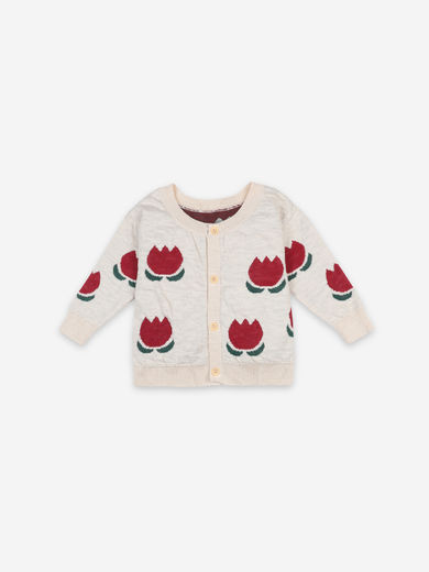 Bobo Choses - Chocolate Flowers Jacquard Cardigan, 121AB078