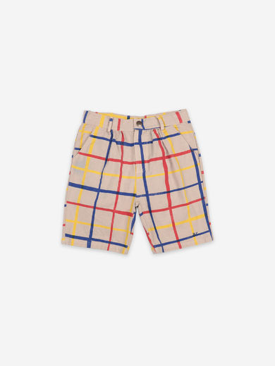 Bobo Choses - Multicolor Checkered Bermuda, 121AC076