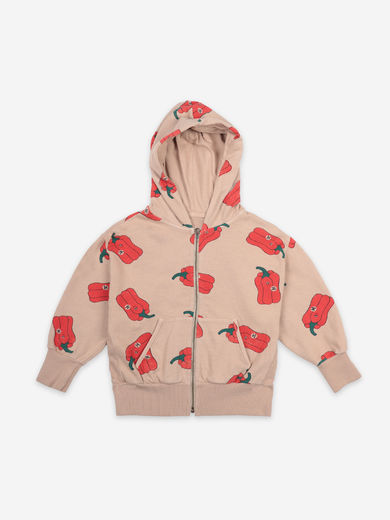 Bobo Choses - Vote For Pepper All Over Zipped Hoodie, 121AC161