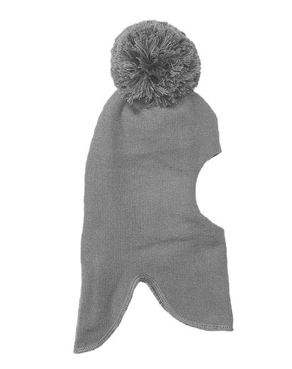 Mainio - BALACLAVA WITH POMPOM, Mel Grey