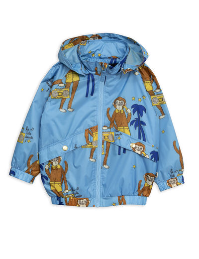 Mini Rodini - Cool monkey sporty jacket, Light blue