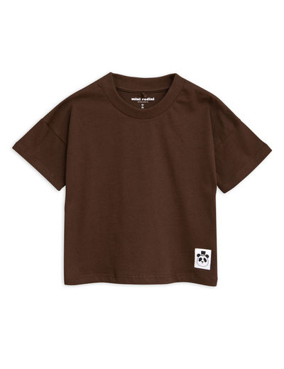 Mini Rodini - Solid cotton ss tee, Brown