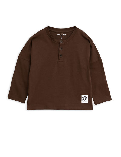 Mini Rodini - Solid cotton grandpa, Brown