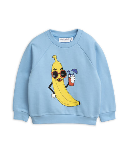 Mini Rodini - Banana sp sweatshirt, Light blue