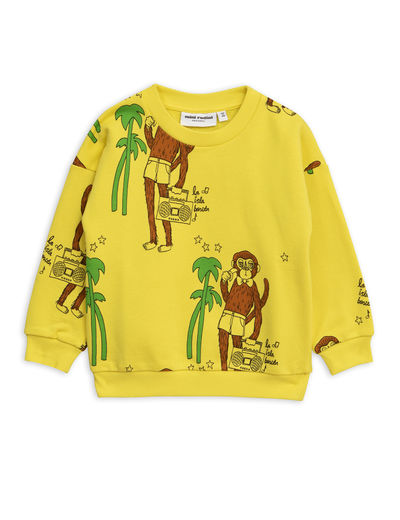 Mini Rodini - Cool monkey aop sweatshirt, Yellow