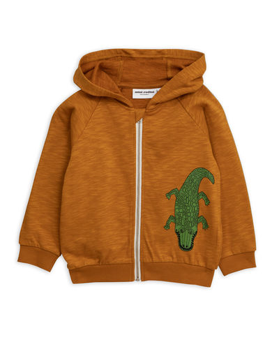 Mini Rodini - Crocco sp zip hood, Brown