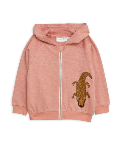 Mini Rodini - Crocco sp zip hood, Pink