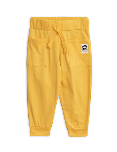 Mini Rodini - Solid cotton trousers, Yellow