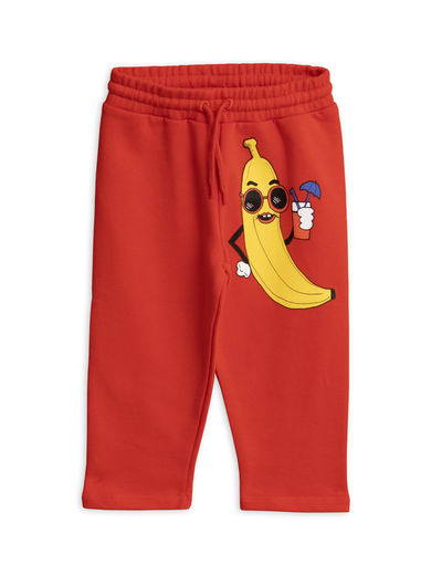 Mini Rodini - Banana sp sweatpants, Red