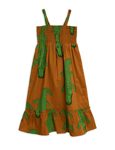 Mini Rodini - Crocco smock Dress, Brown