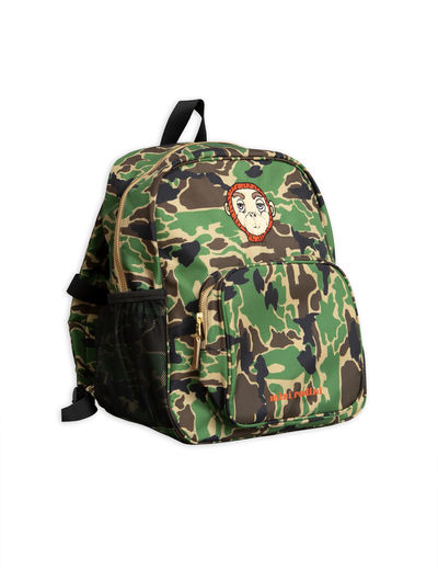 Mini Rodini - Camo school bag, Green
