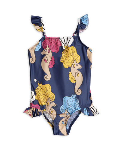 Mini Rodini - Seahorse Wing swimsuit (UPF 50+), Navy