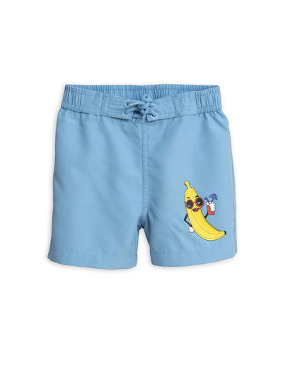 Mini Rodini - Banana swimshorts, Light blue