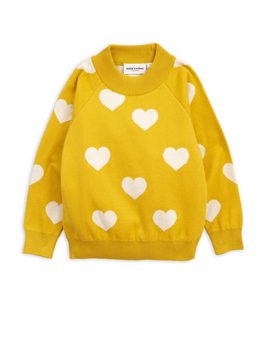 Mini Rodini - Knitted heart sweater, Yellow