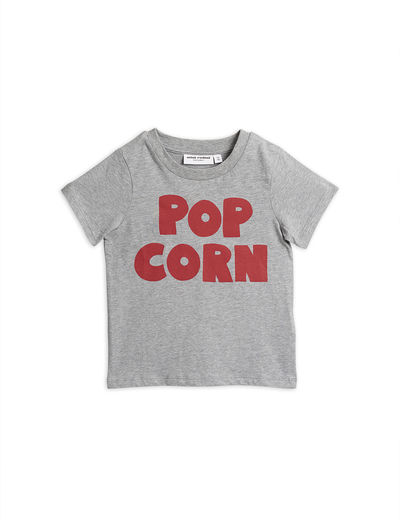 Mini Rodini - Pop corn ss tee, Grey melange