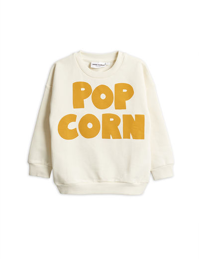 Mini Rodini - Pop corn sp sweatshirt, Offwhite