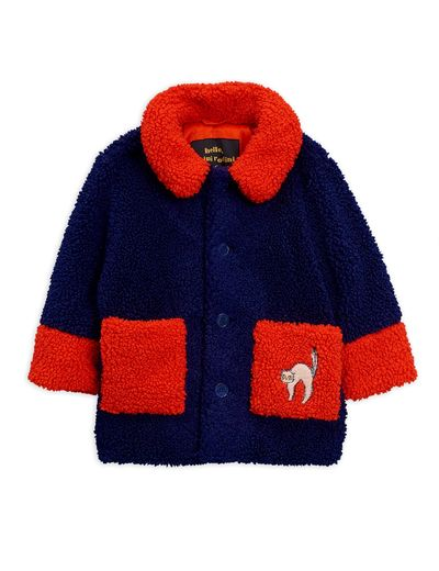Mini Rodini - Faux fur jacket, Blue