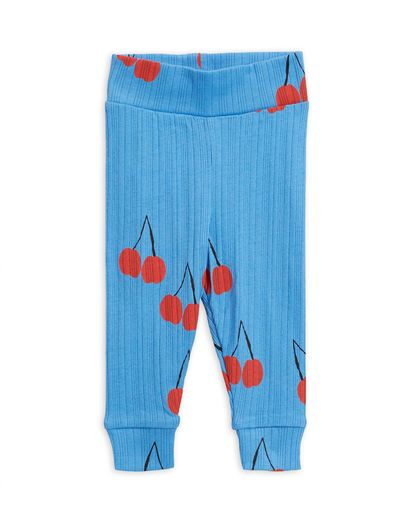 Mini Rodini - Cherry nb leggings, Blue
