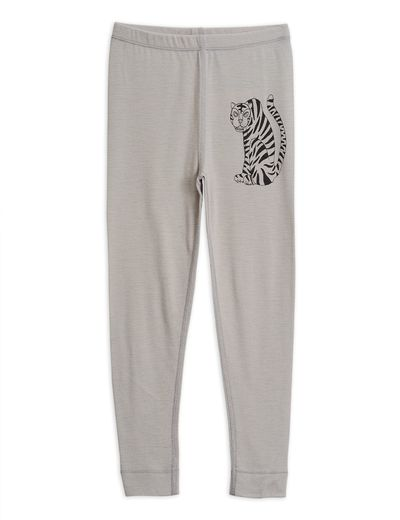 Mini Rodini - Tiger sp wool leggings, Grey