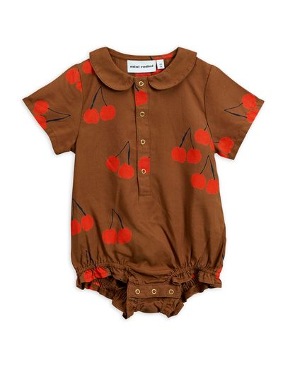 Mini Rodini - Cherry woven body, Brown