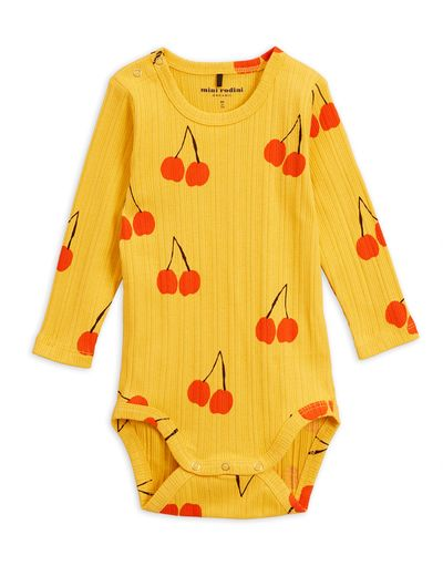 Mini Rodini - Cherry ls body, yellow
