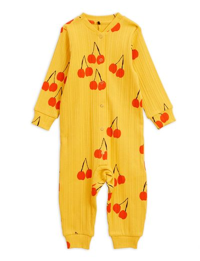 Mini Rodini - Cherry jumpsuit, yellow