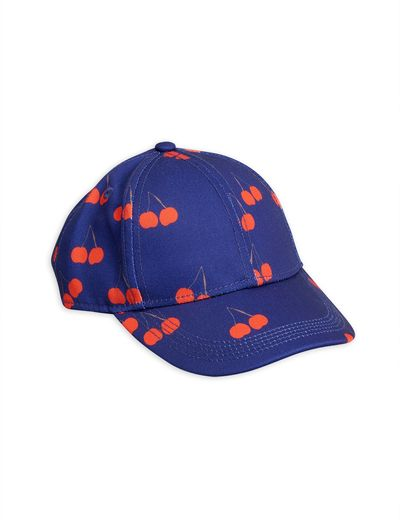 Mini Rodini - Cherry printed cap, blue