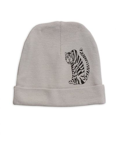 Mini Rodini - Tiger sp wool beanie, Grey