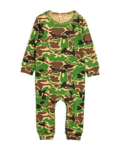 Mini Rodini - Camo jumpsuit, green