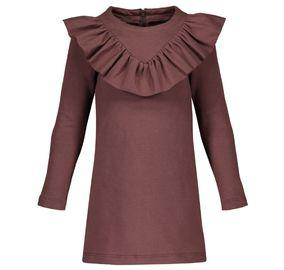 Metsola - V-Frilla dress, Coffee