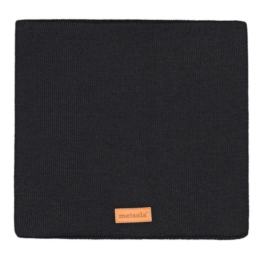 METSOLA - Cotton rib tube scarf, black