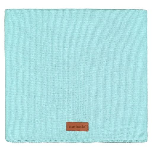 METSOLA - Cotton rib tube scarf, fairy aqua