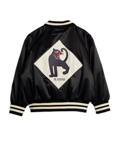 Mini Rodini - Panther baseball jacket, Black