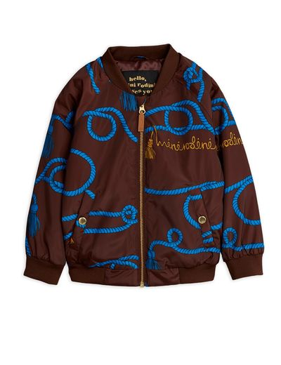 Mini Rodini - Rope baseball jacket, Brown