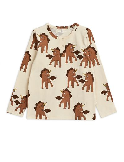 Mini Rodini - Unicorns aop grandpa, Offwhite