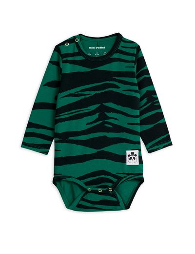 Mini Rodini - Tiger ls body, Green