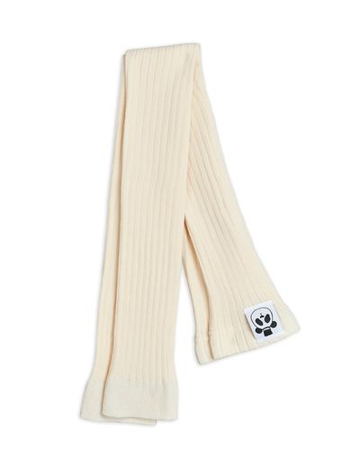 Mini Rodini - Ribbed leggings, White
