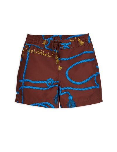 Mini Rodini - Rope swimshorts, Brown