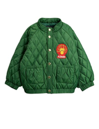 Mini Rodini - Diamond quilted jacket, Dark Green