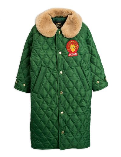 Mini Rodini - Diamond quilted coat, Dark green